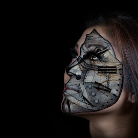 Tic Toc by Roem Bonilla - People Body Art/Tattoos ( face, girl, makeup, paint )