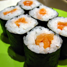 Salmon and Seaweed Sushi