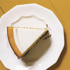 Pumpkin Cheesecake with Marshmallow-Sour Cream Topping and Gingersnap Crust