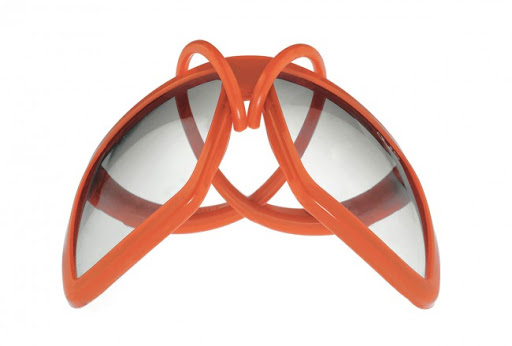 Alero Gumsquare Rubber Sunglasses Orange
