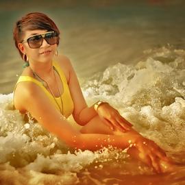 Bathing Foam by Dany Fachry - People Portraits of Women