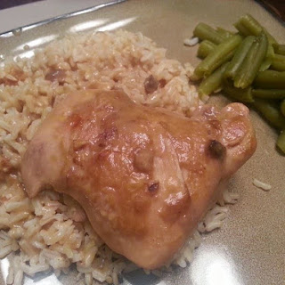 Chuck's Chicken and Gravy Over Rice.