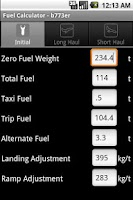 Screenshot of Phugoid FuelCalc
