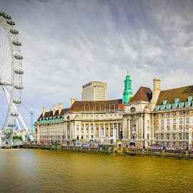 London Eye by Ed Esposito - Buildings & Architecture Public & Historical ( london eye, england, london, bridge, river )