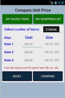 Screenshot of Unit Price Calculator