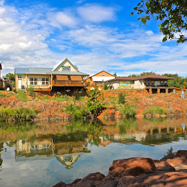 Reflecting River by Kathy Suttles - Buildings & Architecture Homes