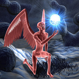 Winged Alien by Lux Aeterna - Digital Art Things
