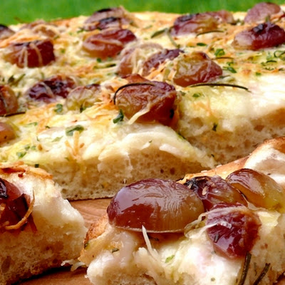 Easy Grape and Rosemary Focaccia