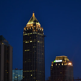 Atlanta Sky Line by Carrie Cooper - Buildings & Architecture Office Buildings & Hotels