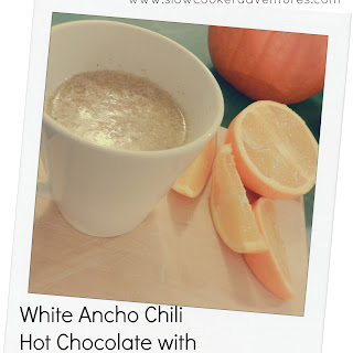 White Ancho Chili Hot Chocolate with Orange Blueberry Brandy