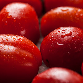 Cherry Tomatos by Andre Lindo - Food & Drink Fruits & Vegetables ( food, veggies, tomatos )