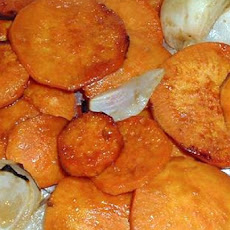 Honey and Mustard Sweet Potatoes