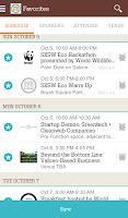 Screenshot of SXSW Eco Mobile Guide