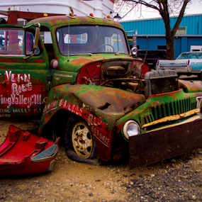 by Sean Marquantte - Transportation Automobiles ( meetup groups, old, meetup, littleton, 2014, cars, frontrage photography, junkyard, rustic )