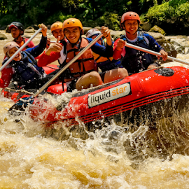 Rodeo Raft ! by OC Andoko - Sports & Fitness Watersports ( watersport, adventure, waterrodeo, fun, river )