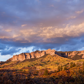 Colorado sunset by Charles Frates - Landscapes Sunsets & Sunrises ( autumn leaves, sunset, colorado, blanket of color, dymamic sky )