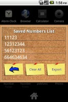 Screenshot of Number Saver (Donate)