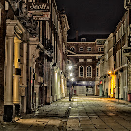 Parliament St. Hull by Dez Green - City,  Street & Park  Night ( night photography, night, street scene, cityscape, architecture )