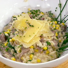 Sweet Corn, Black Trumpet and Truffle Risotto