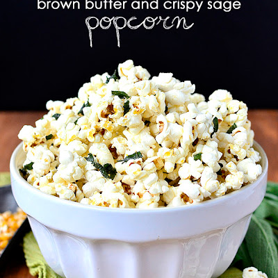 Brown Butter and Crispy Sage Popcorn