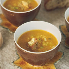Ginger Squash Soup with Parmesan Croutons