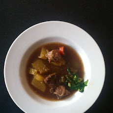 Lamb Stew with Quick-braised ramp garnish