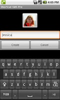 Screenshot of Shortcut SMS Pro