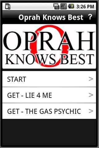 Oprah Knows Best