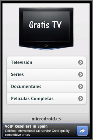 gratis-tv for android screenshot