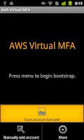 Screenshot of AWS Virtual MFA