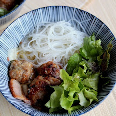 Vietnamese Pork Meatball and Noodle Salad (Bun Cha)