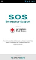 Screenshot of S.O.S. by American Red Cross