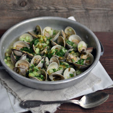 Clams with Mirin, Lime and Cucumber