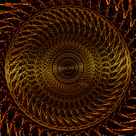 gold by Dietmar Kuhn - Illustration Abstract & Patterns ( abstract, wire, centre, moody, design )