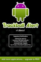 Screenshot of Trackball Alert