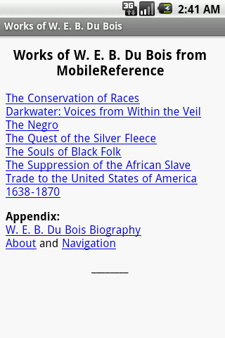 Works of W. E. B. Du Bois