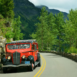 Road Going To The Sun, Glacier National Park, Montana by Kathleen Koehlmoos - Transportation Automobiles ( glacier, montana, road going to the sun, montana tourists, glacier national park )
