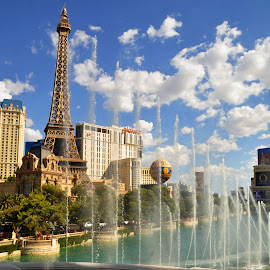 Old Europe in Las Vegas by Jane Singer - Buildings & Architecture Office Buildings & Hotels ( las vegas, bellagio, planet hollywood, fountain, paris hotel )