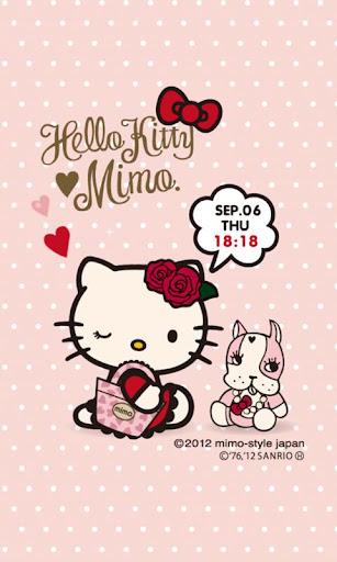 mimo.×HELLO KITTY ライブ壁紙