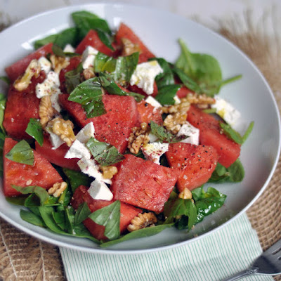 Watermelon, Ricotta Salata and Sumac Salad