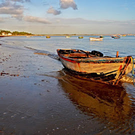 the boat by Suelena Moreira - Landscapes Beaches