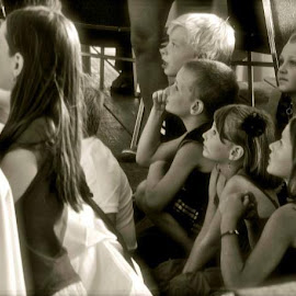 story time by Clare Parsons - Babies & Children Children Candids ( blackandwhite, children, candid, beauty, youth, clareparsonsphoto )