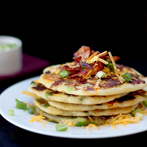 Savory Bacon, Cheddar, and Green Onion Pancakes