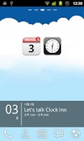 Screenshot of Clock inn+ (Clock&Cal Widget)