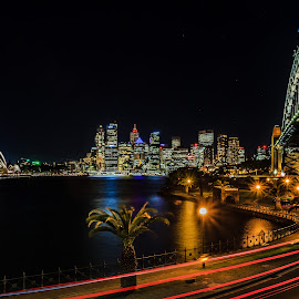 Sydney by night by Edward Luong - City,  Street & Park  City Parks