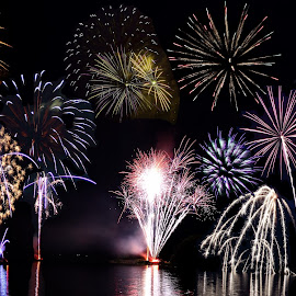by Suann Vandewalker - Abstract Fire & Fireworks ( holiday, water, wow, colors, fireworks )