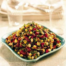 Three-Bean and Corn Salad with Cider Vinaigrette