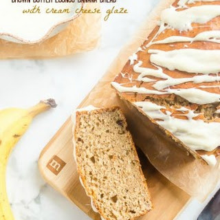 Brown Butter Eggnog Banana Bread with Cream Cheese Glaze
