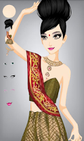 Screenshot of Make Indian girl Dress up
