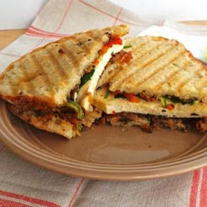 Roasted Tofu and Vegetable Panini